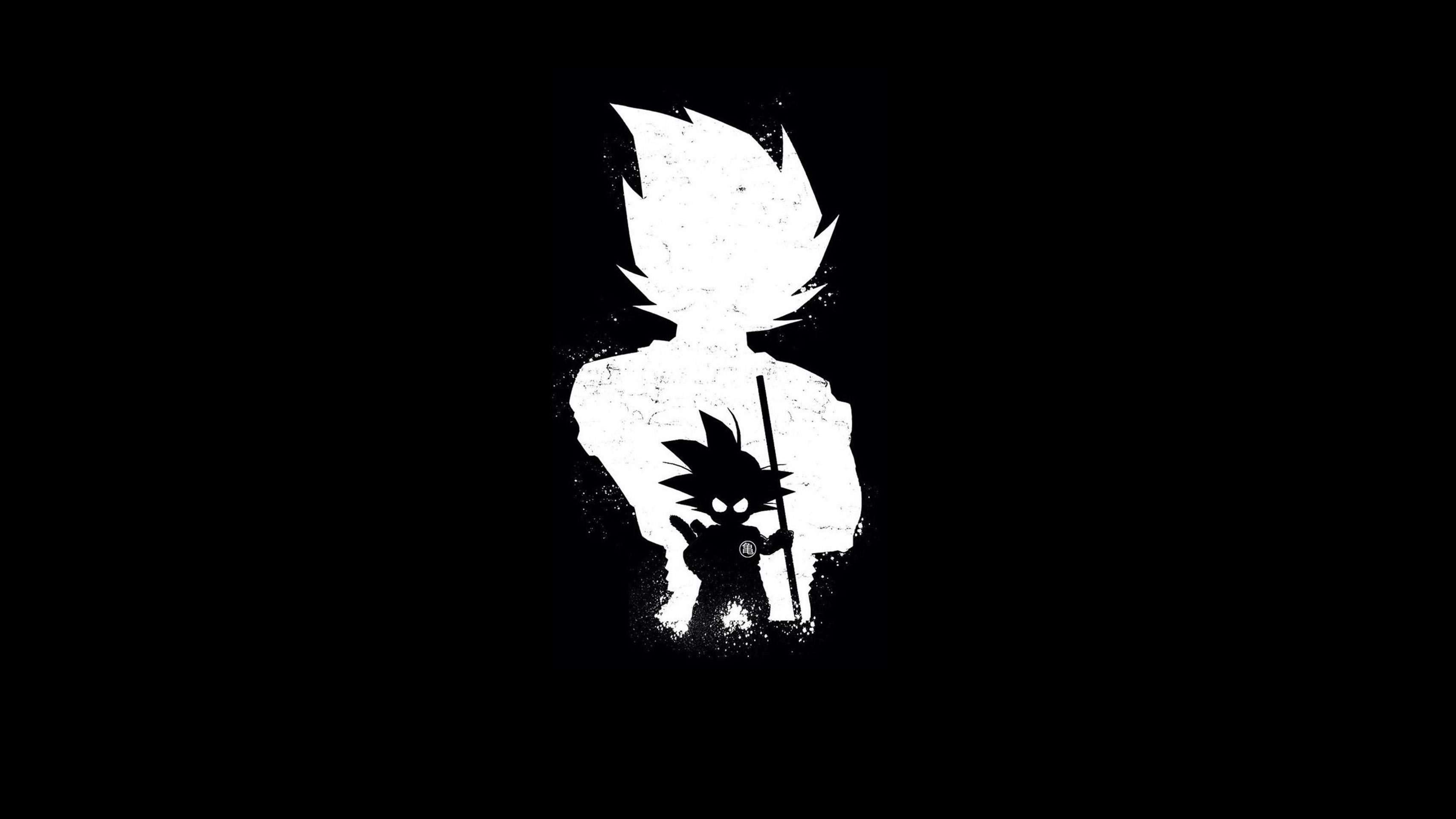 goku anime dark black