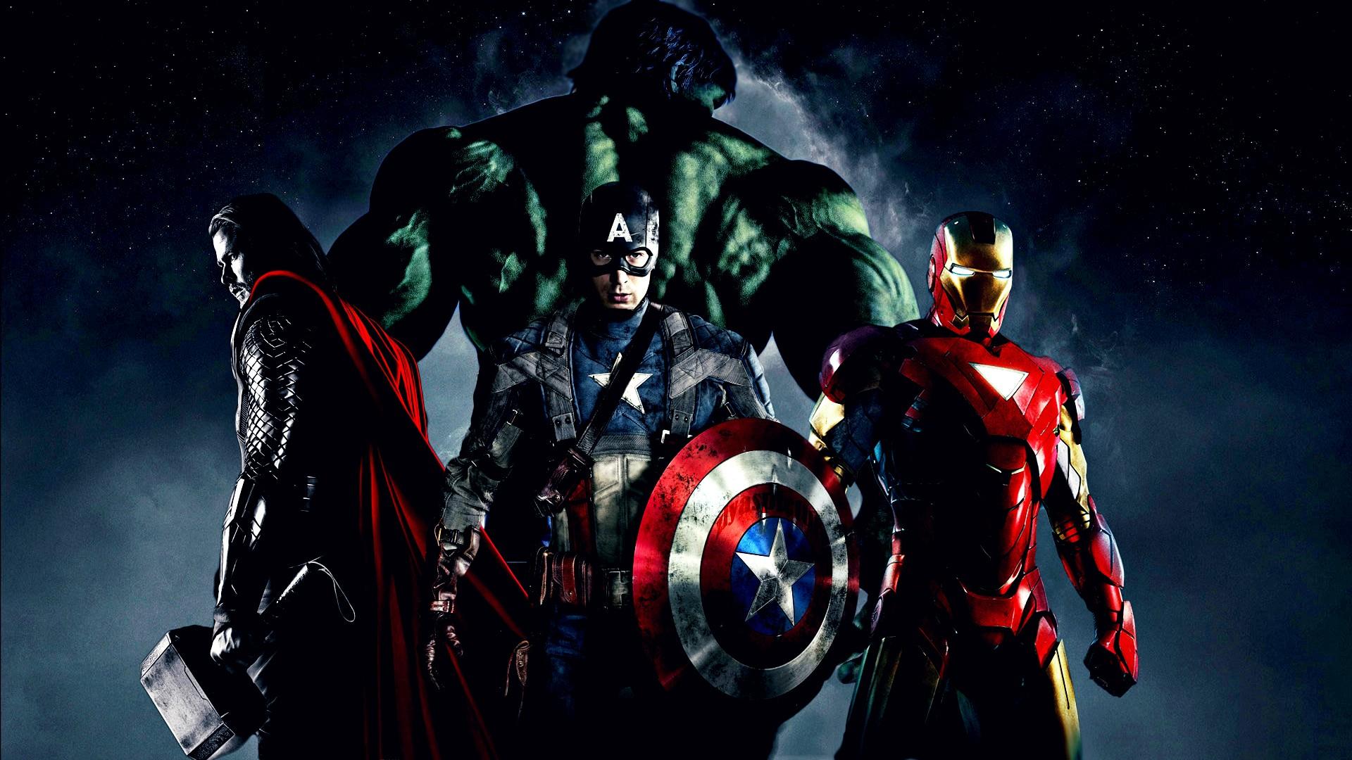 hulk iron man captain
