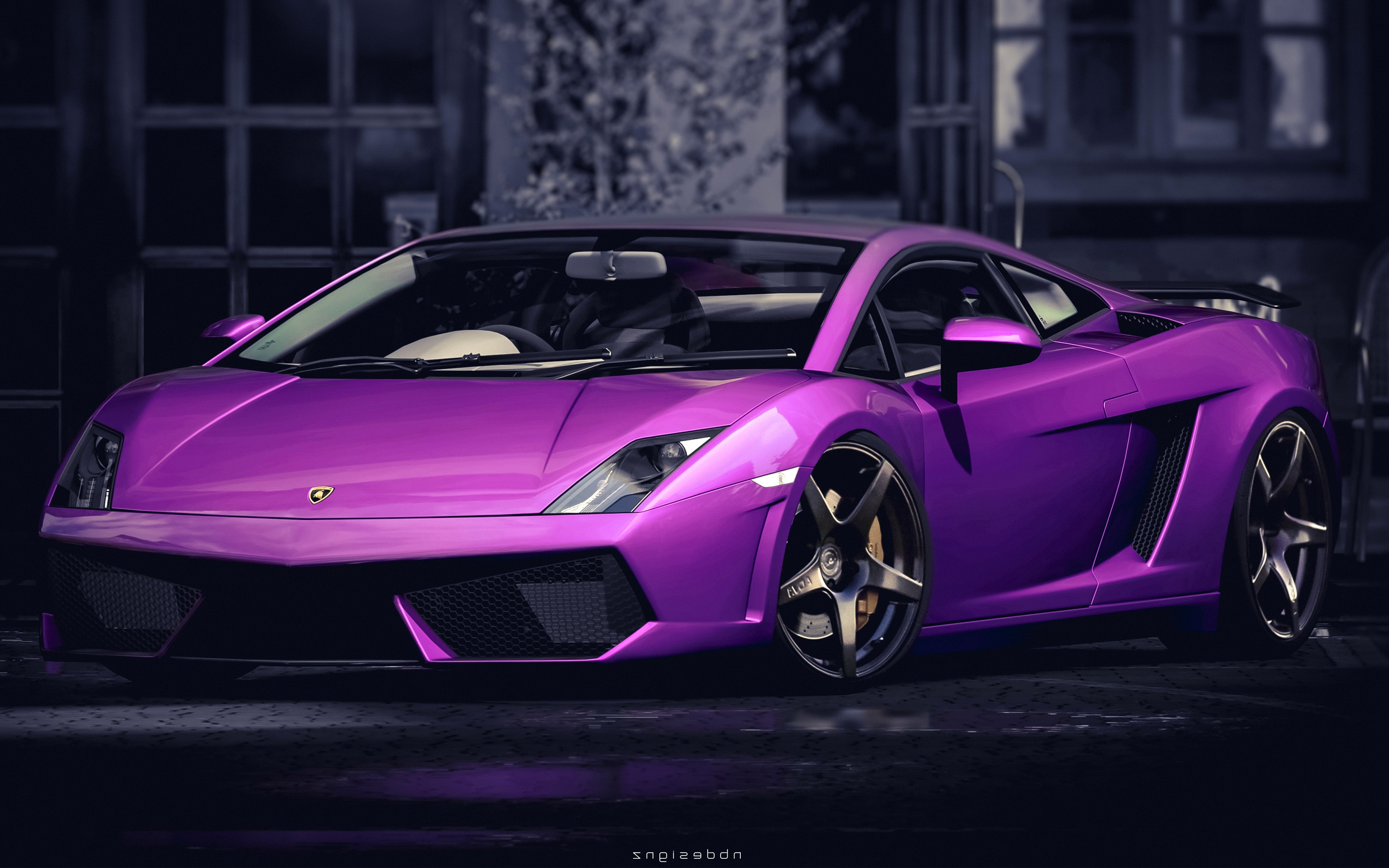 Lamborghini Gallardo Purple HD Cars 4k Wallpapers
