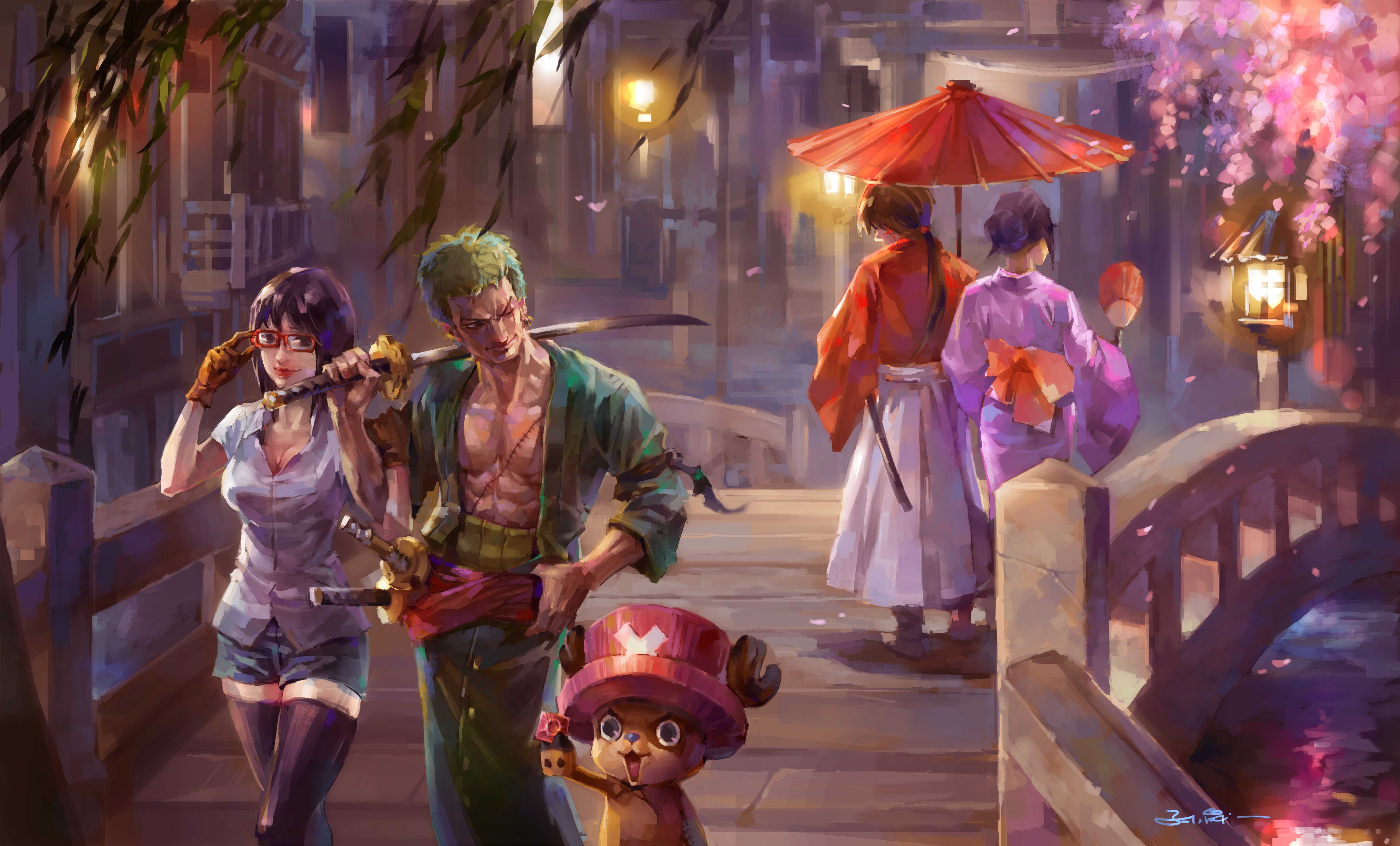 5120x2880 One Piece Painting 5k 5k HD 4k Wallpapers