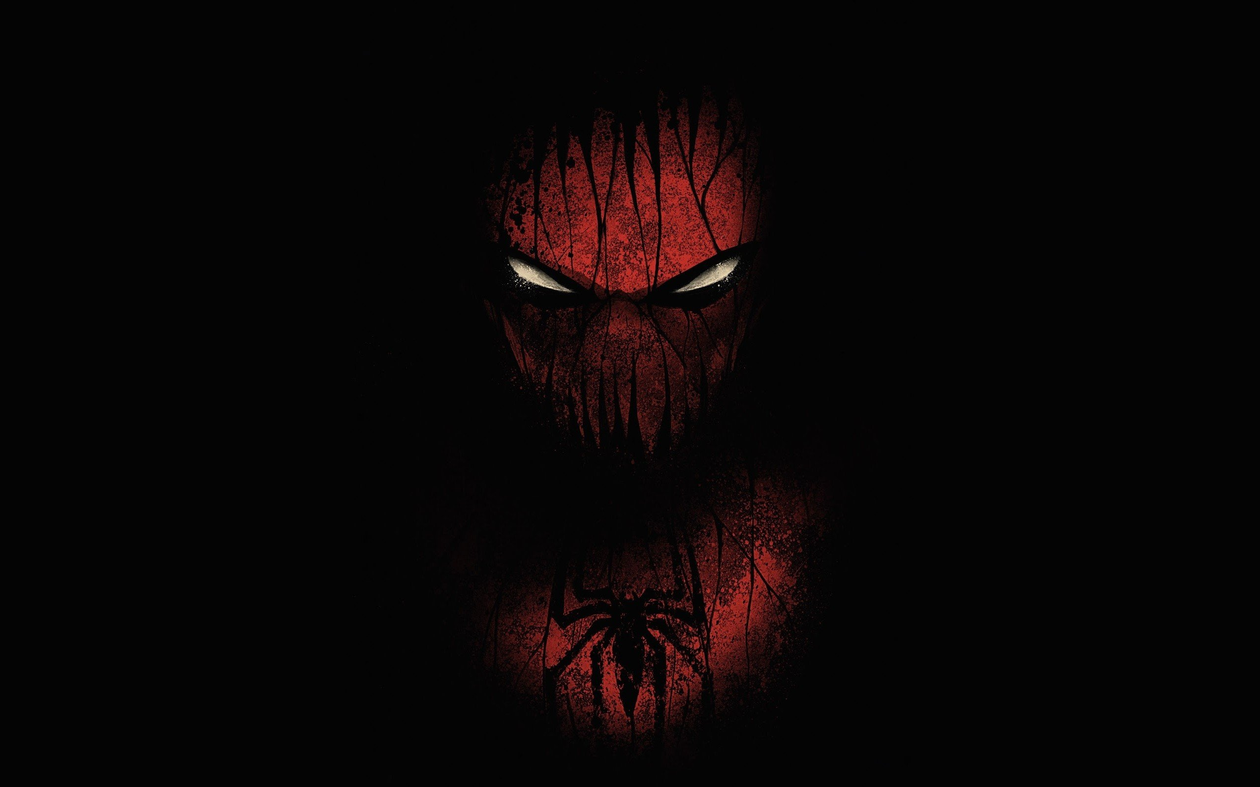 red black spiderman hd