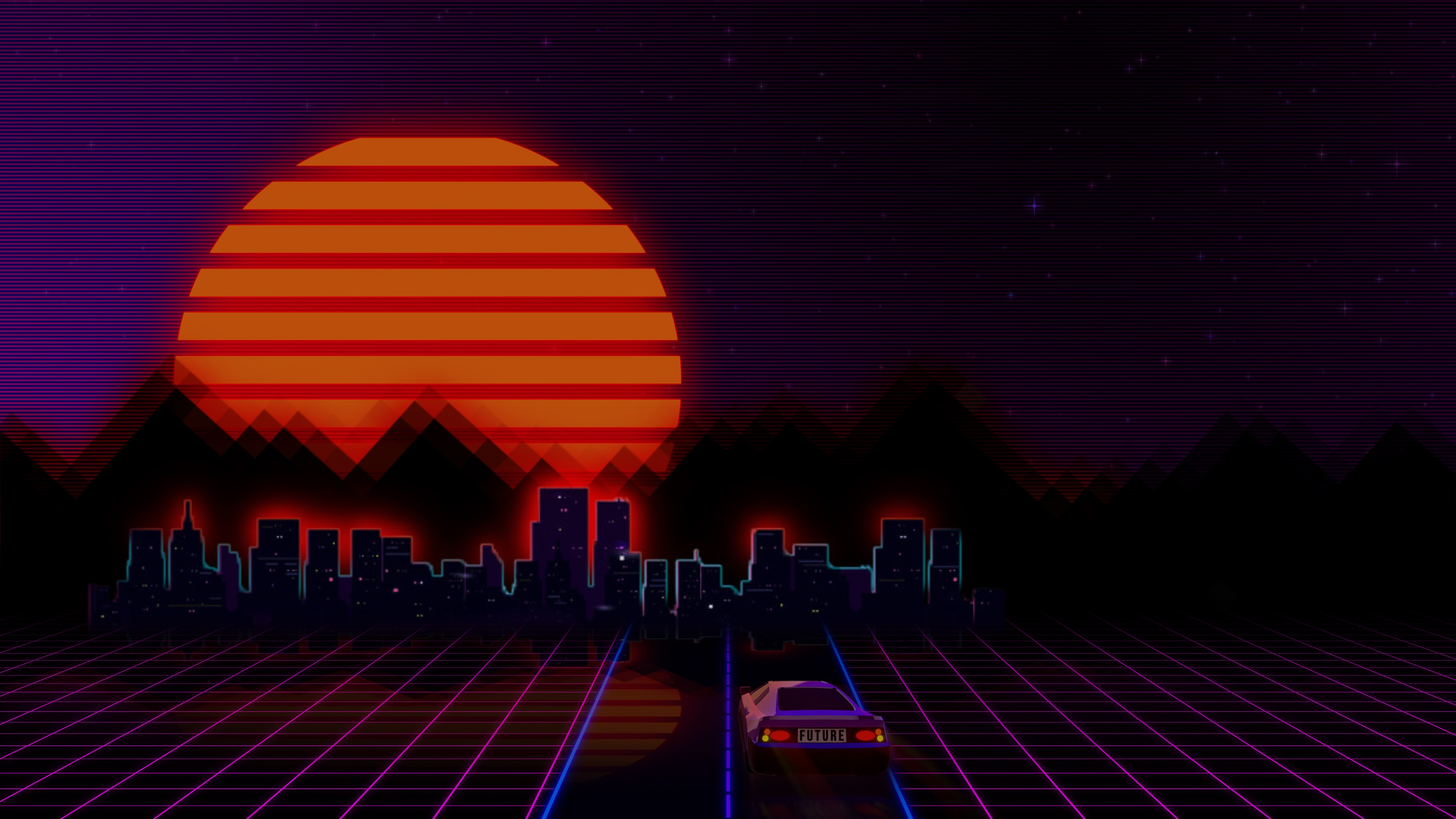 80s Car Wallpaper Retrowave City Artistic Car Hd Artist 4k Wallpapers