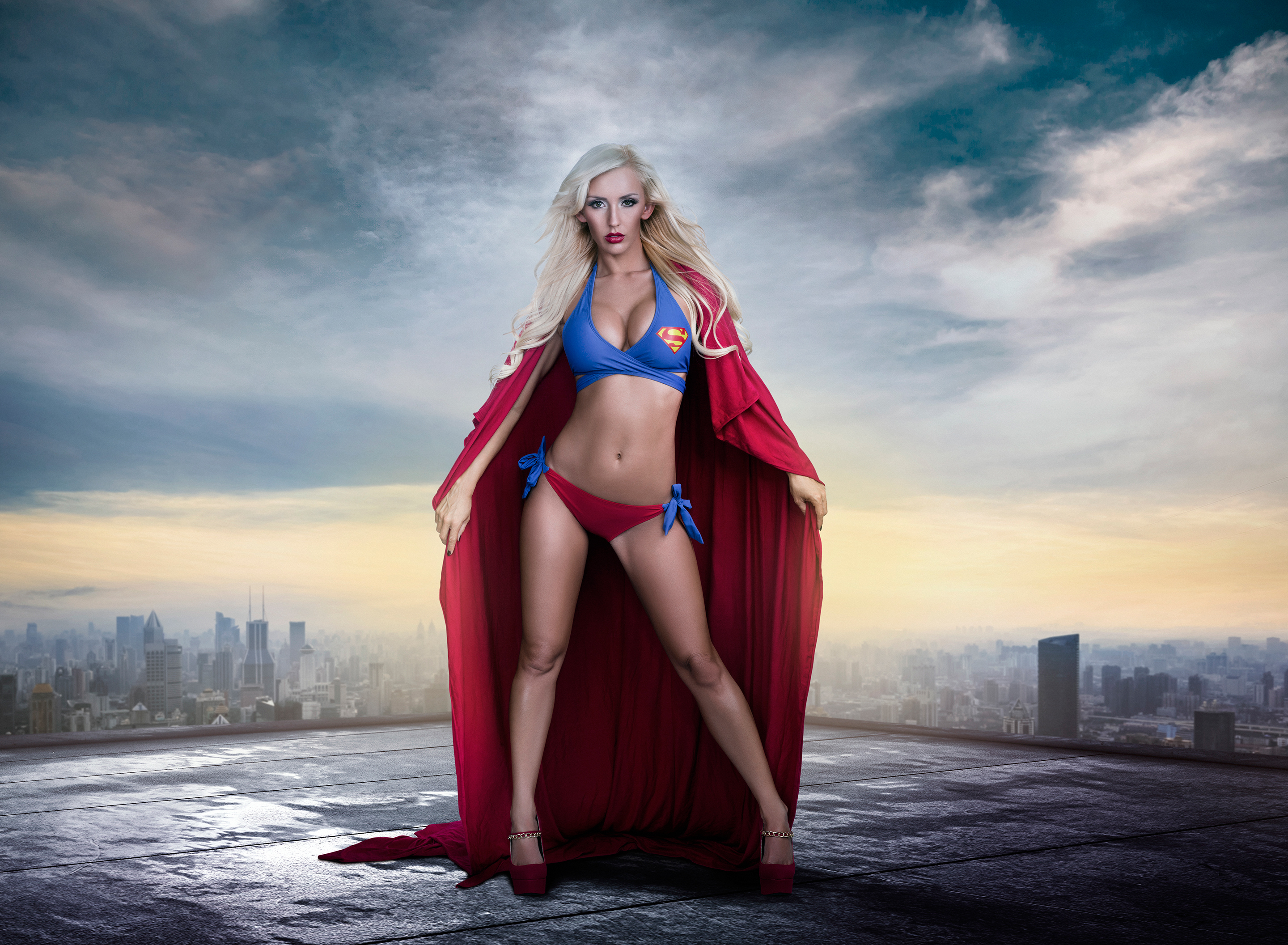 Indian Girl Wallpapers For Desktop Sketch 2048x1152 Supergirl Cosplay 2048x1152 Resolution Hd 4k