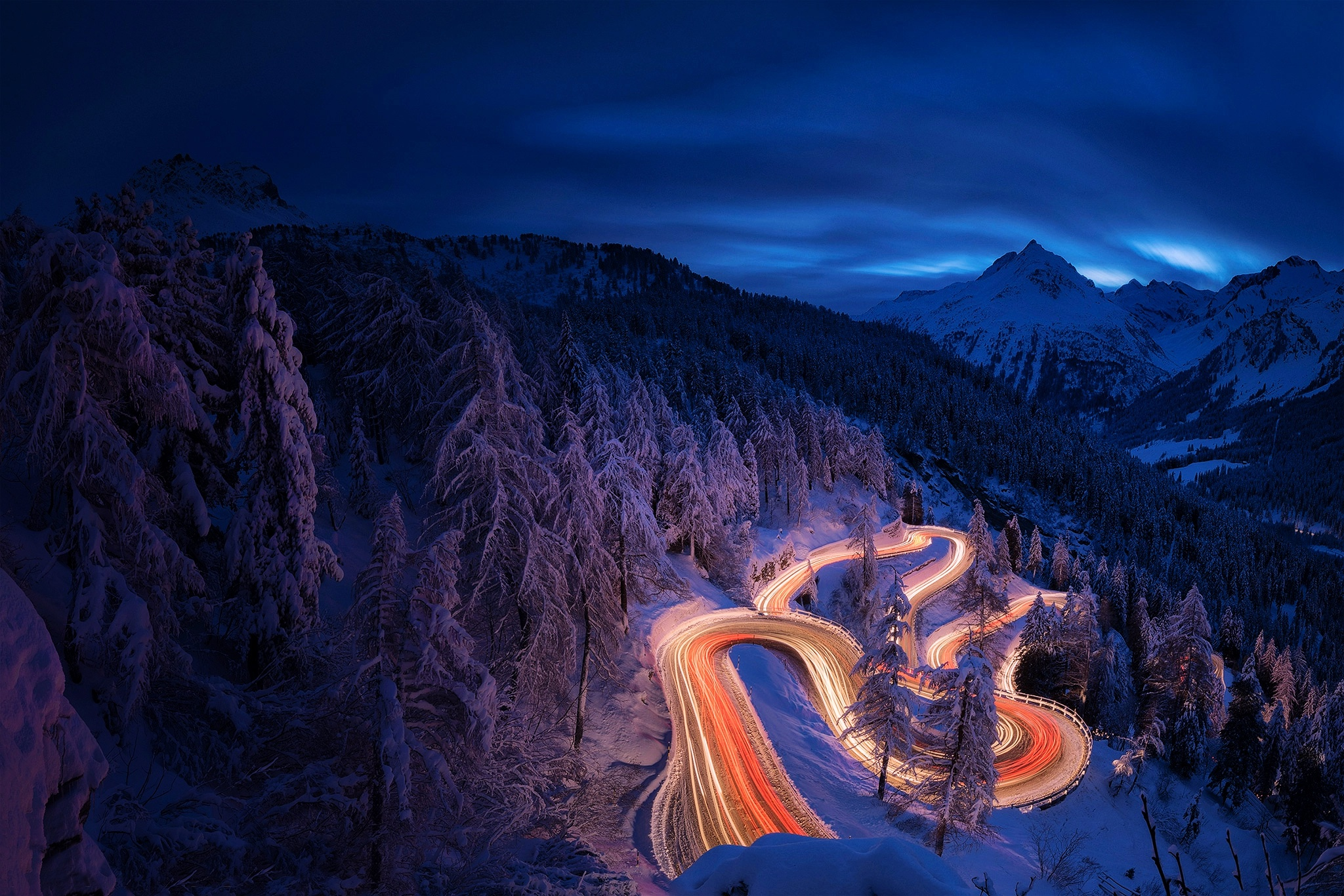 3d Snow Wallpaper For Android 3840x2160 Time Lapse Photography Forest Landscape Mountain