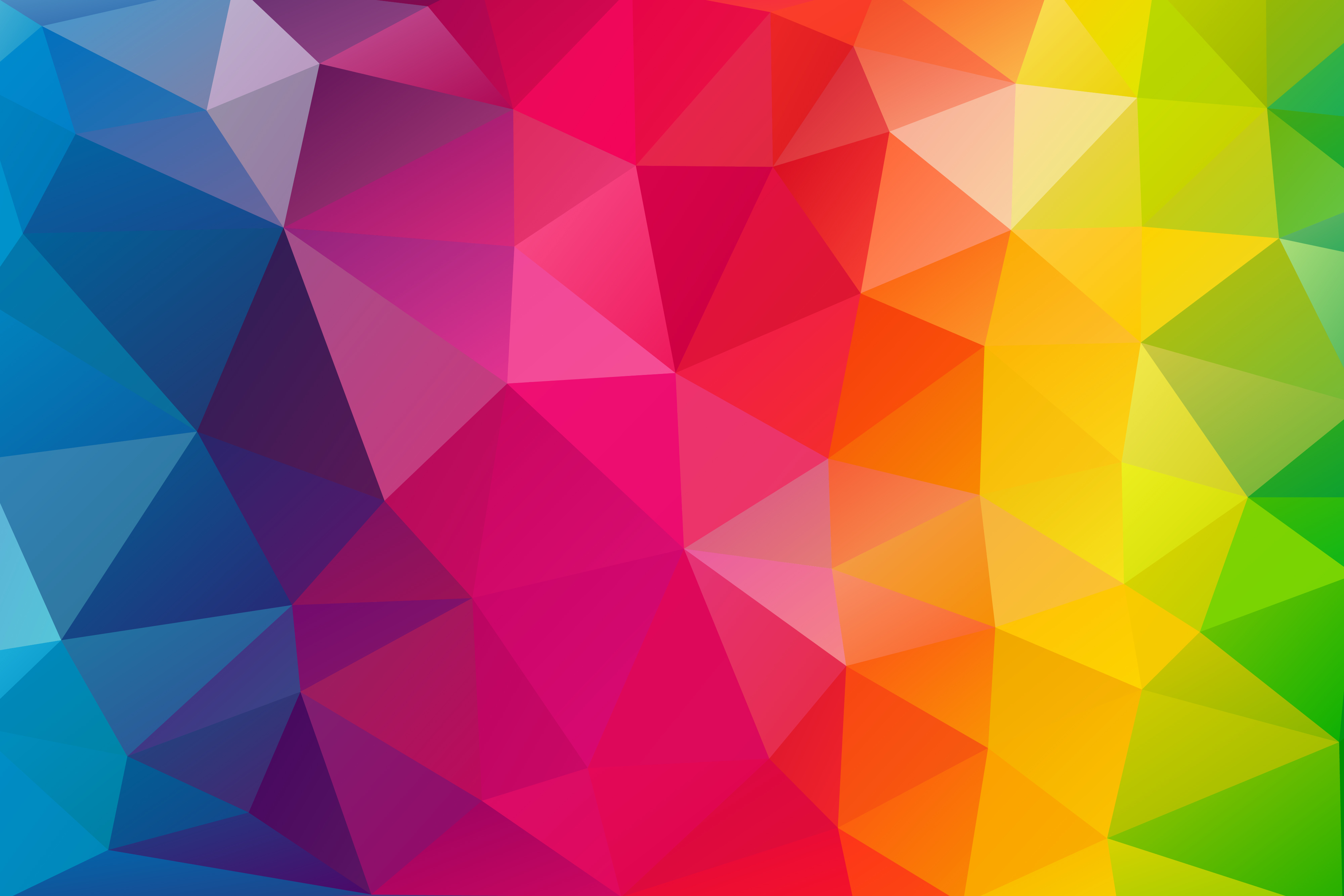 triangles colorful background hd