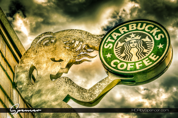 An Industrial View of the Starbucks Logo