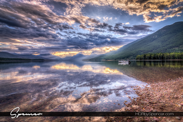 sunrise, montana, lake mcdonald, glacier national park