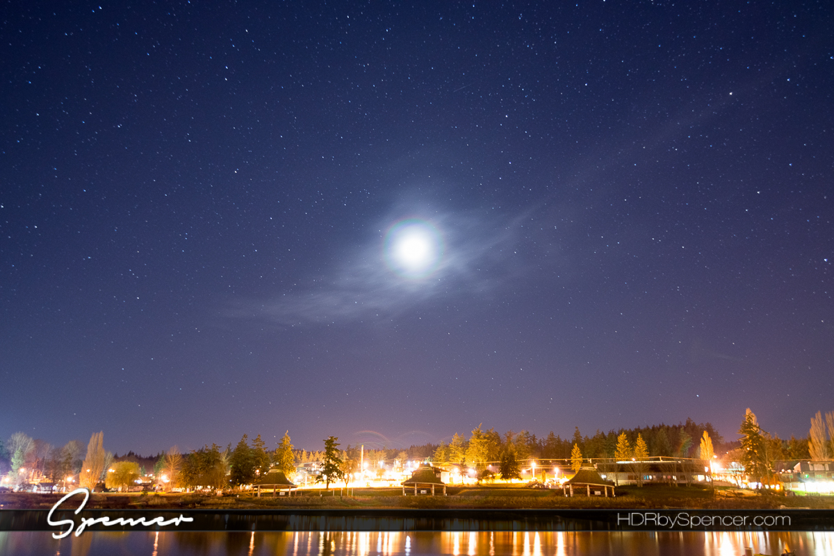 stars, star photography, night photography, la conner, washington, puget sound