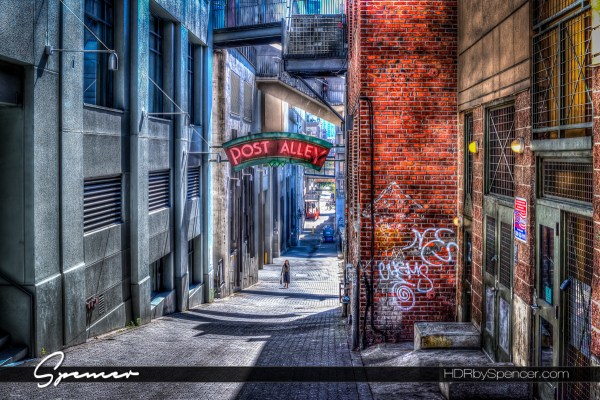 Post Alley in Seattle Washington