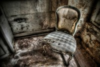 old chair in abandoned hallway HDR photograph | HDR Processing