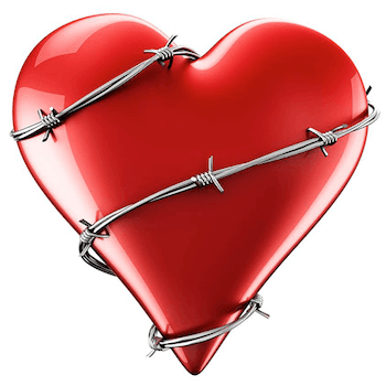 Barbed Wire Heart Emoticon for facebook