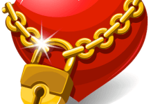 Heart Locked with Golden Chain