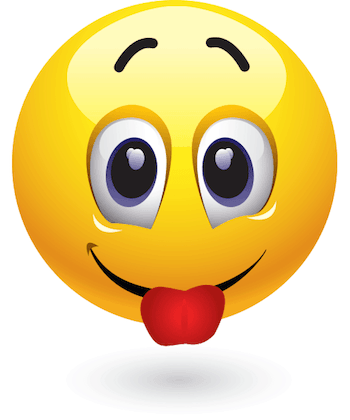 emoticon with tongue out
