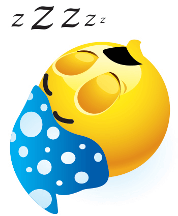 sleeping and snoring emotion for Facebook