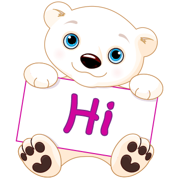 Cute bear saying HI!!
