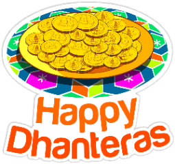 happy dhanteras gold coins