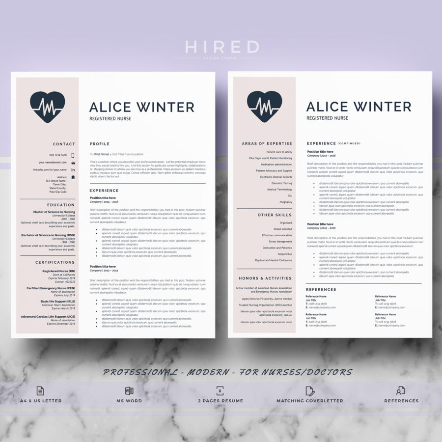 nurse template archivos  Hired Design Studio