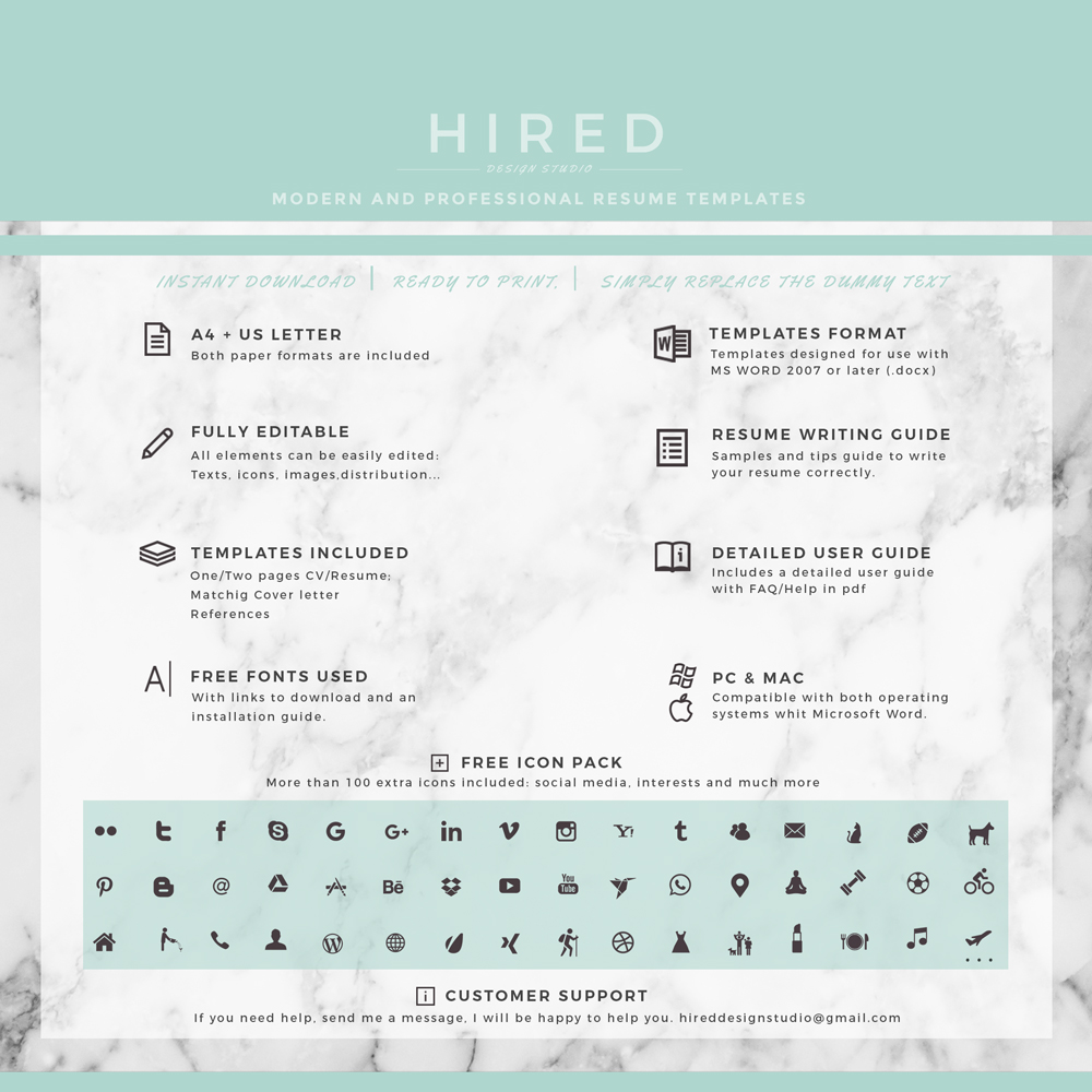 """Modern Resume Template · Professional Resume Template · Quick View. """""""