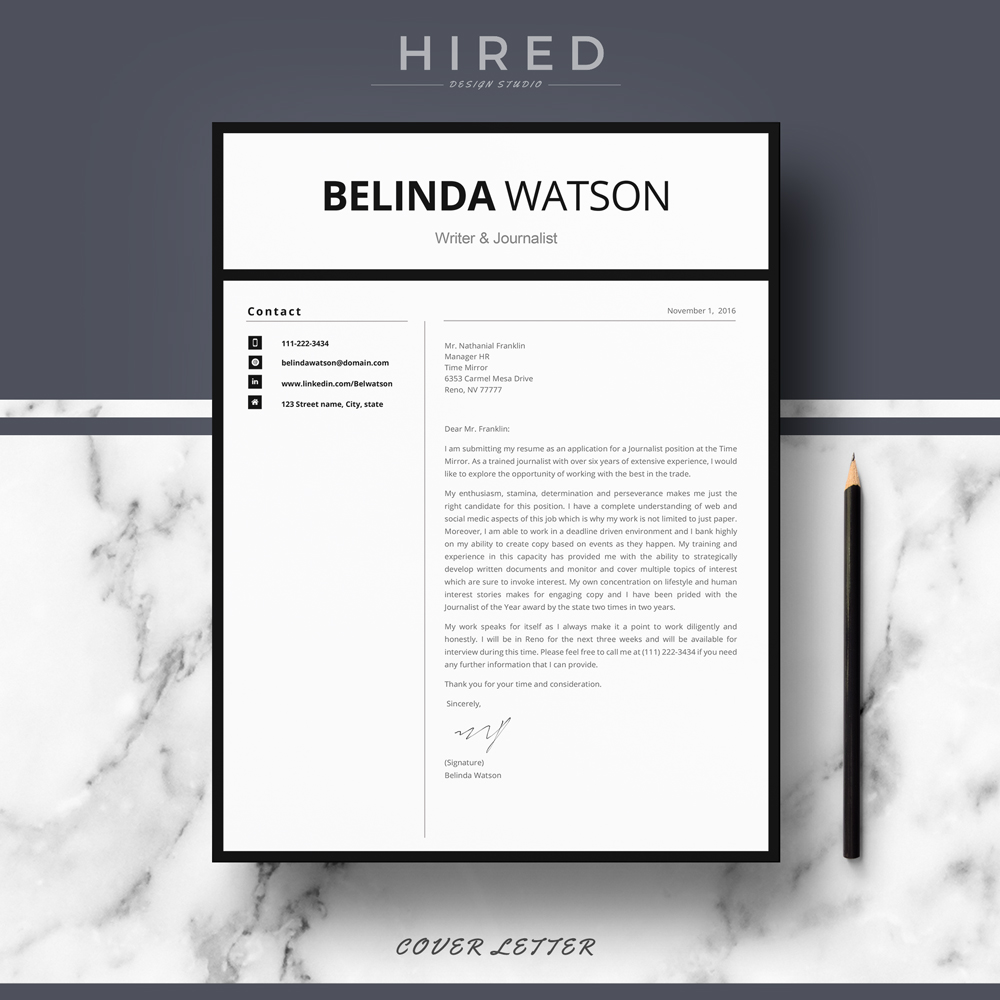 Modern Resume Template · Professional Resume Template. Quick View. ""