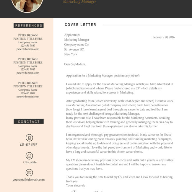 Minimalist Resume Template Word A4 And Us Letter - Resume