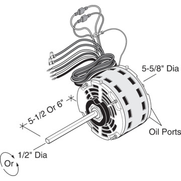 Replacement Direct Drive Blower Motor With Permanent Split