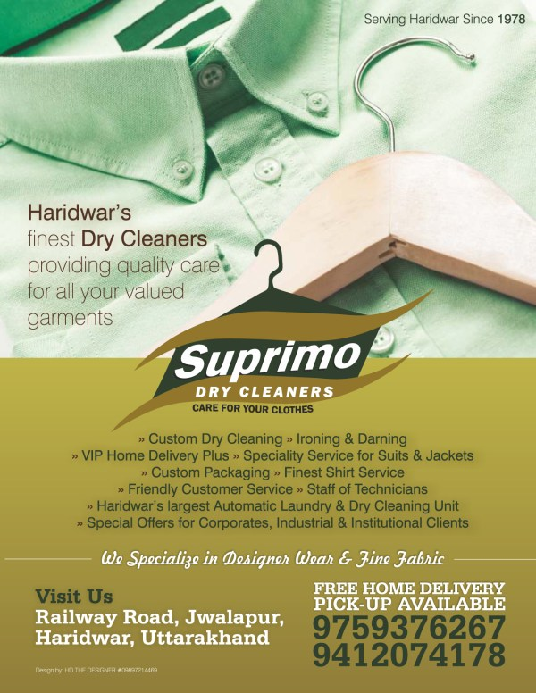 Advertisement Suprimo Dry Cleaners Hd Designer