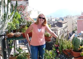 Robin on Nino's Balcony- Palermo