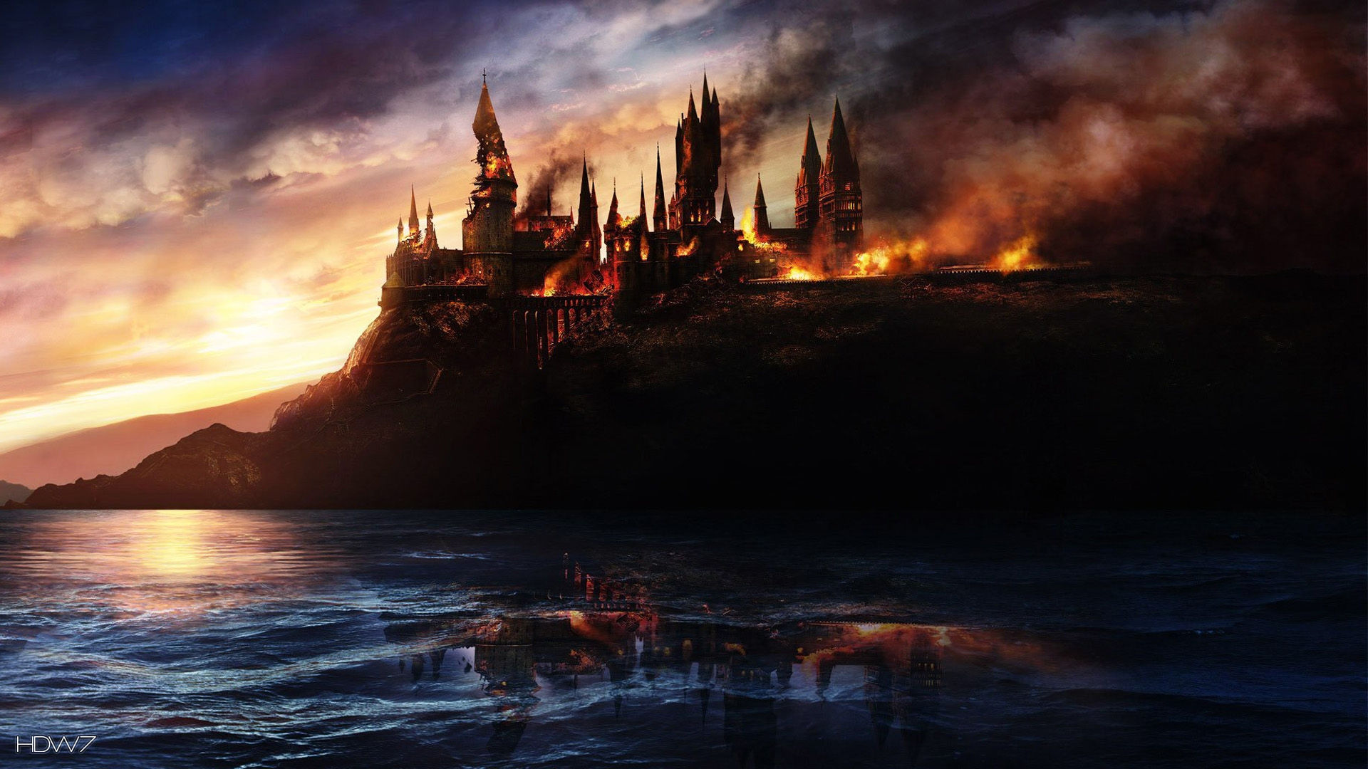 Mrsuicidesheep Wallpaper Fall Burning Castle Hd Wallpaper Gallery 423