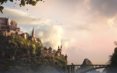 castle fantasy wallpapers background hd knight widescreen castles colourful rider mac abstract bridge trees 2560 1600 backgrounds desktop wall computer