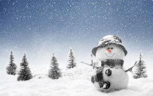 Winter-Snowman-wallpaper