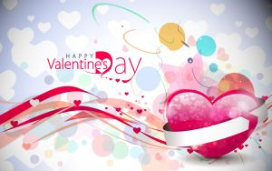 Abstract valentines day colorful background design element.
