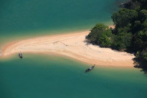 Aerial View of Phang Nga Bay thailand