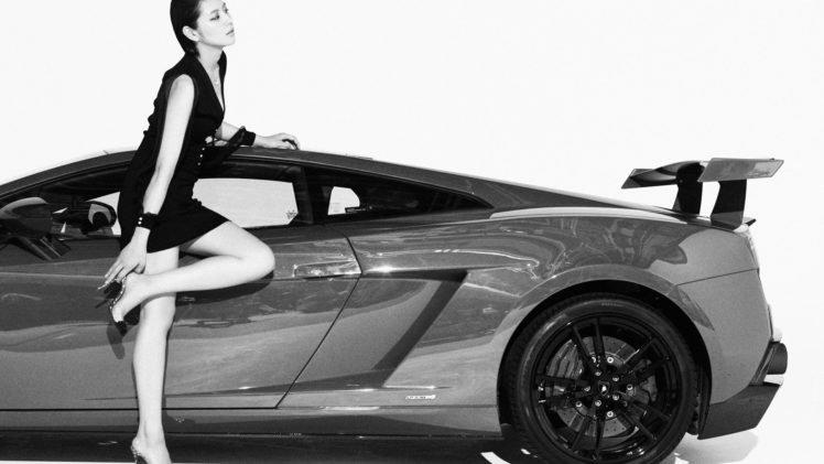 Super Car 5760x1080 Wallpaper Masami Nagasawa Women With Cars Black Clothing Asian