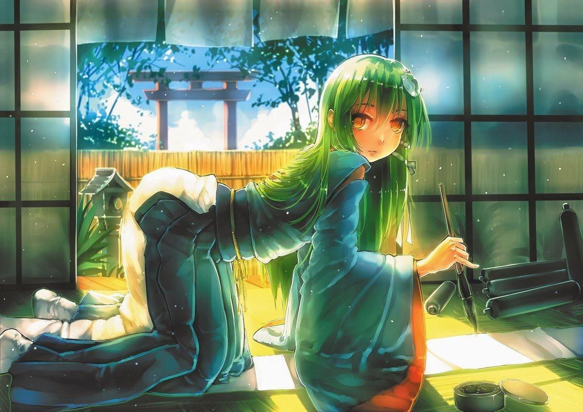 Creepy Anime Girls Wallpaper Touhou Anime Girls Anime Kochiya Sanae Hd Wallpapers
