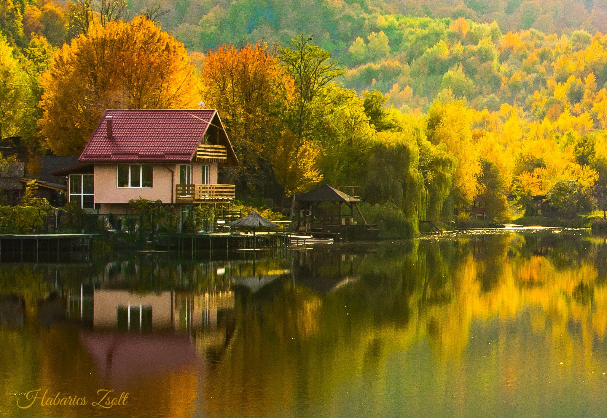 Anime Fall Wallpaper Hd Fall Reflection House Hd Wallpapers Desktop And Mobile