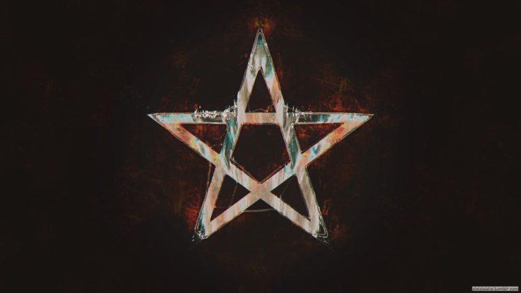Gravity Falls Wallpaper Hd Glitch Art Pentagram Abstract Stars Hd Wallpapers