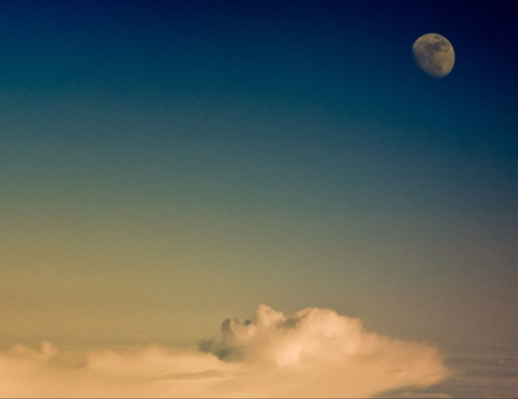 face clouds moon hd