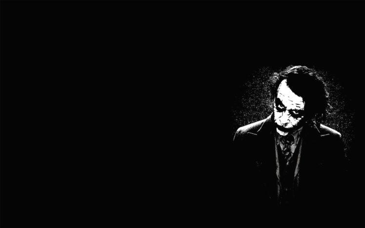 black background monochrome joker