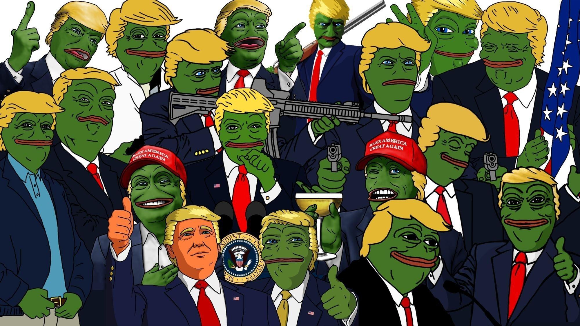 Mlg Hd Wallpaper Donald Trump Pepe Meme Sadfrog Kek North America