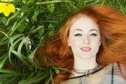 women model redhead long hair
