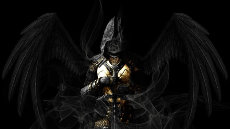 angel wings sword dark