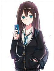 long hair brunette anime
