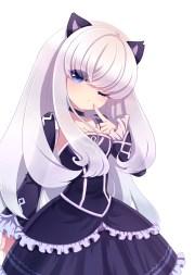 long hair blue eyes anime