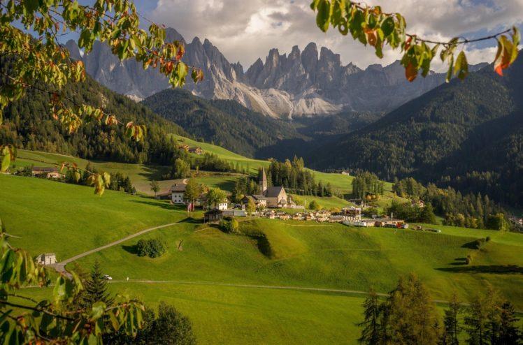 village hill valley mountain