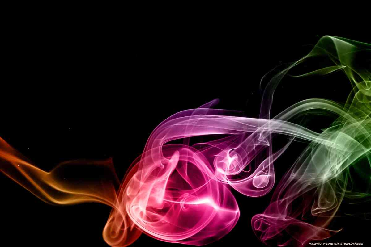 Rainbow Smoke Art 7