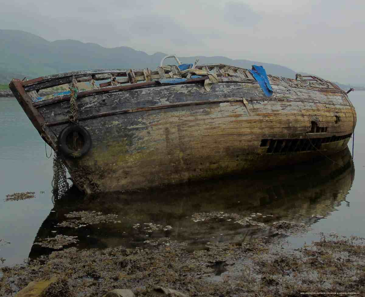 the old boat wreck
