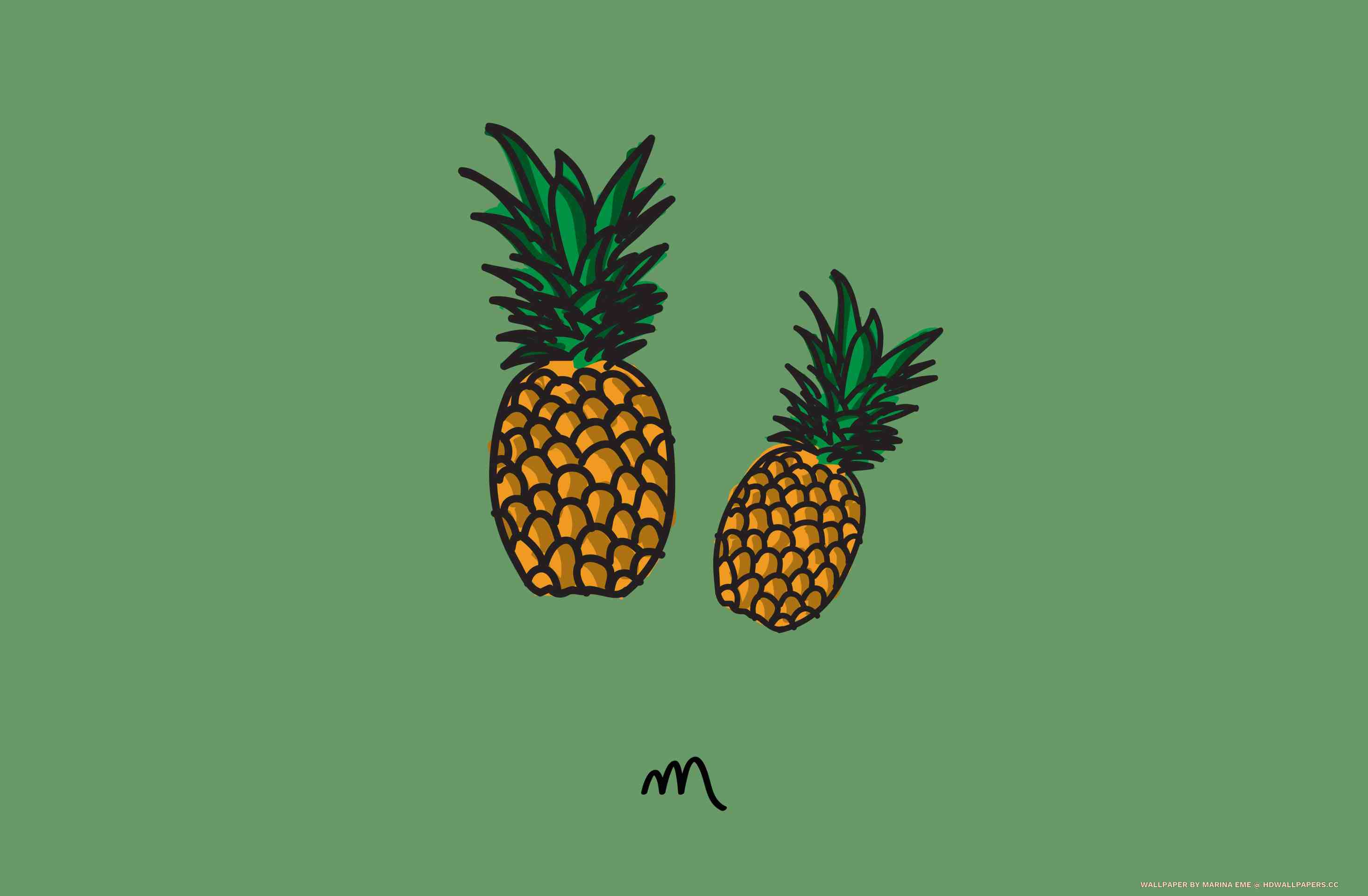 Wallpaper iphone pineapple - Iphone 6 6s