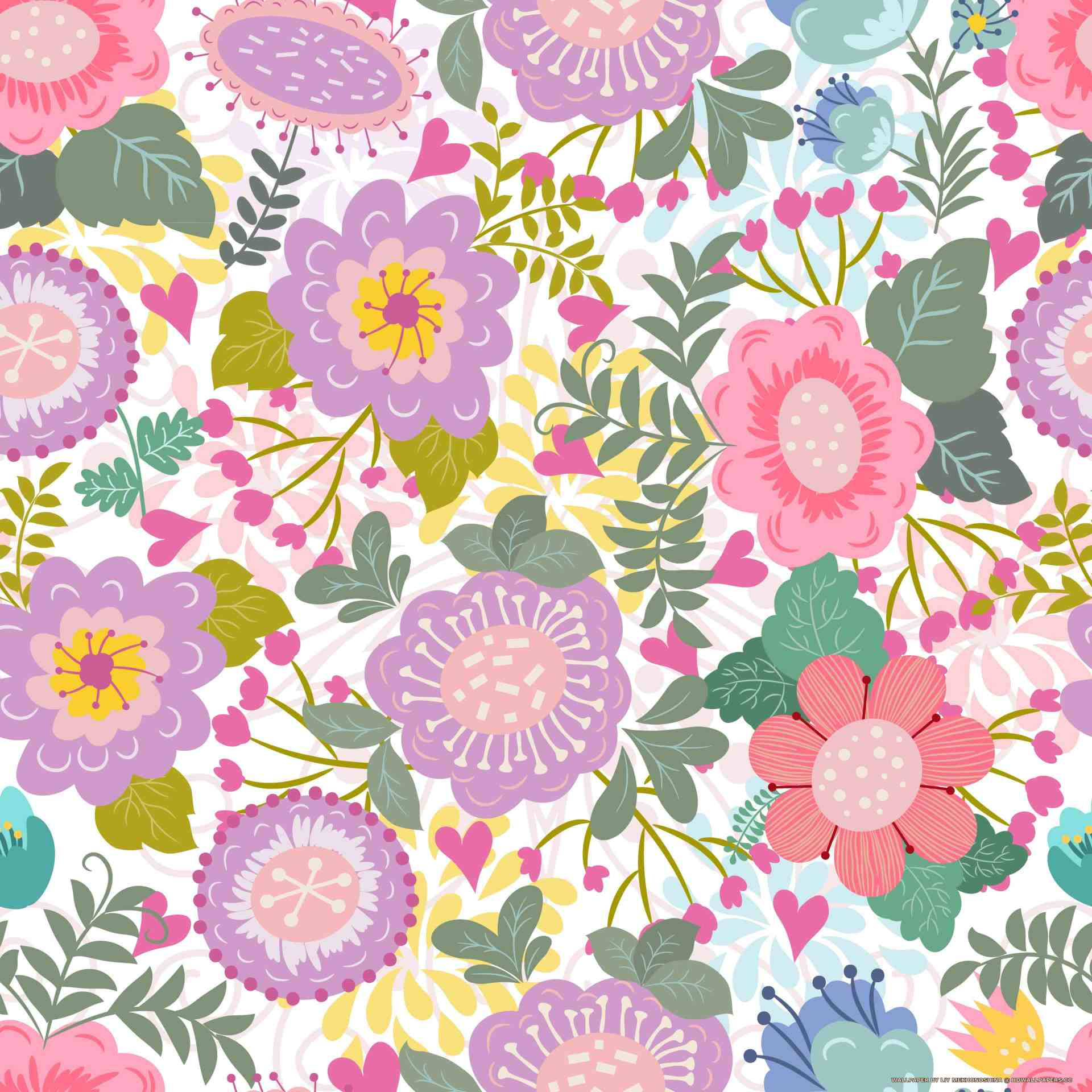 Floral Seamless Pattern Hd Wallpapers