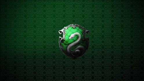 Slytherin Logo In Green Star Diamond Shape Background HD