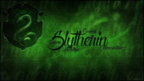 Slytherin Logo With Words In Green Background HD Slytherin